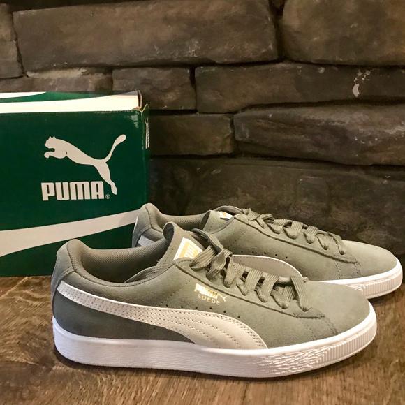 00edfa22652023 New Box Suede Puma Classics Grey Agave Shoes 7.5